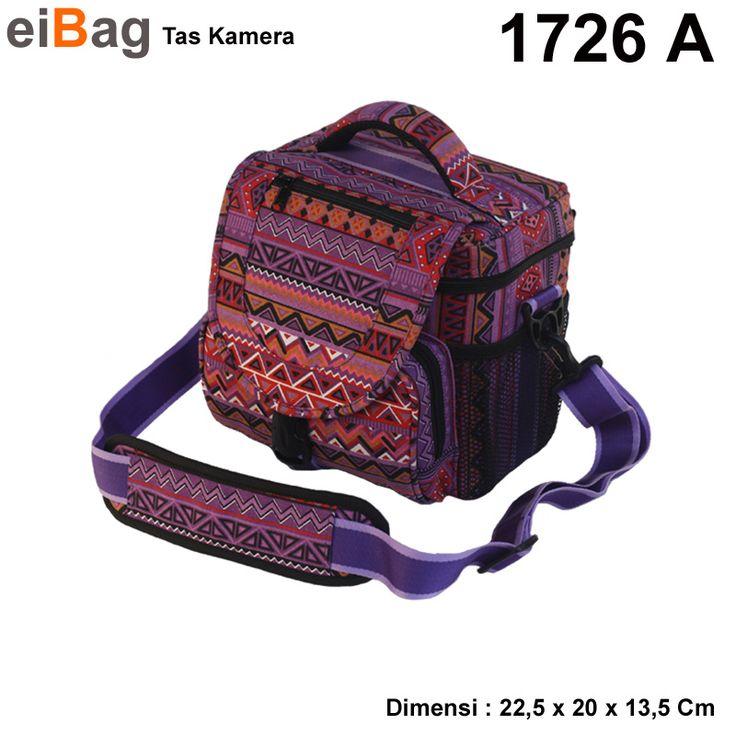 tas kamera DSLR harga murah produk Bandung untuk kamera dslr dengan bahan kanvas motif tribal. Tas unik karena bahannya unik