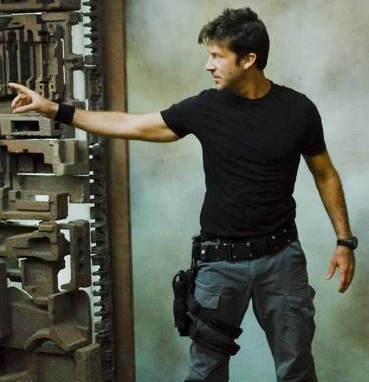 One reason I love Stargate Atlantis. John Sheppard`s thigh holster << agreed<< one i the reasons 'I' love Stargate Atlantis... 'IS' John Sheppard!