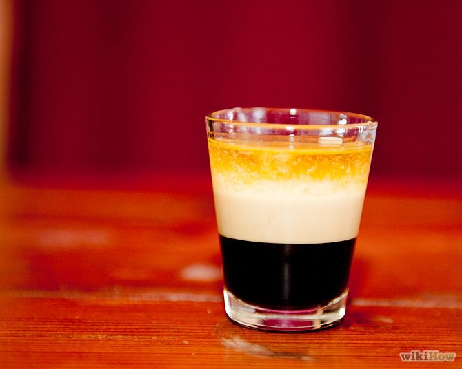 Duck Fart shot : 1/2 oz (15 ml) Kahlua, 1/2 oz (15 ml) Bailey's Irish Cream, 1/2 oz (15 ml) Jack Daniels whiskey (or cdn rye whiskey). Layer in glass or shake all with ice and strain into shot glass.