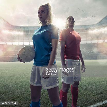 Stock Photo : Women Soccer Heroes