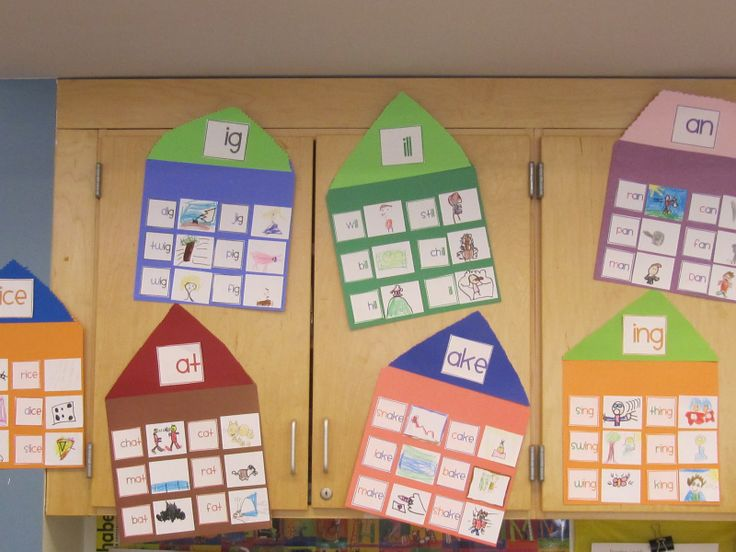 Word Family houses - love that the kids draw pictures, great vocab builder