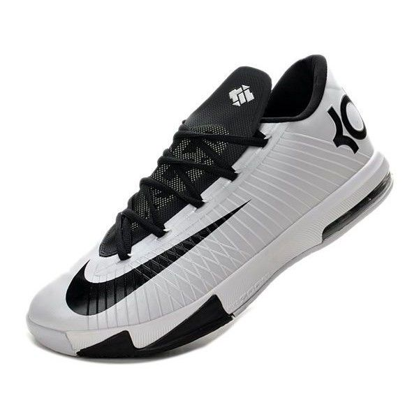 Cheap Mens Nike KD VI (6) Black White ❤ liked on Polyvore featuring mens, men's shoes, men's sneakers, shoes, sneakers, nike and kds