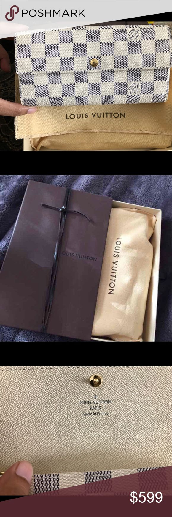 Sarah wallet Authentic Excellent condition like new just used only a week its like brand new paid over $800 Louis Vuitton Bags Wallets