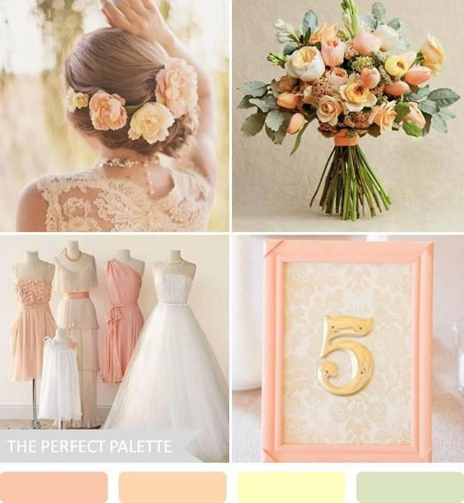 Peach is definitely going to be one of my wedding colors