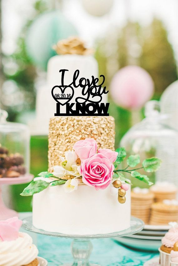 I Love You Cake Topper