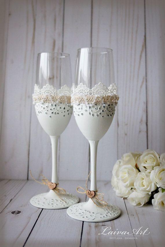 Boda Champagne flautas tostado vasos rústicos fultes boda