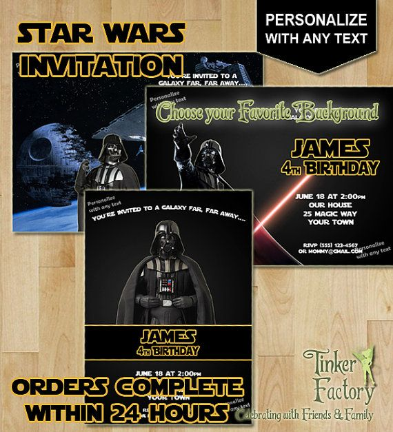 88 best Star Wars Birthday images on Pinterest Star wars party - birthday invitation backgrounds