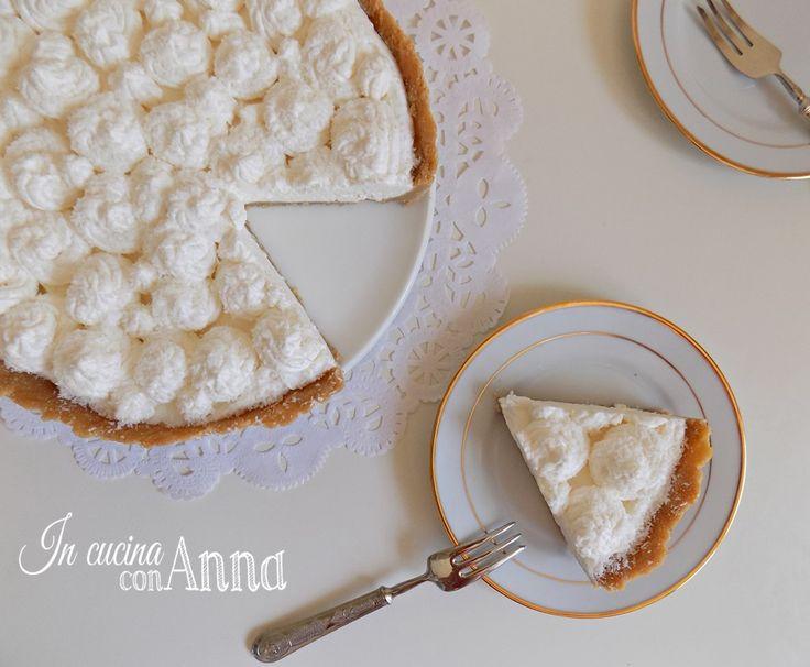 La crostata fredda al cocco è un dolce fresco,delicato e molto goloso che conquista tutti dal primo assaggio...