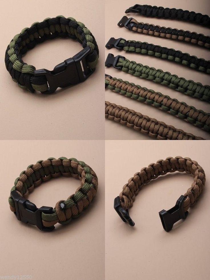 Paracord Survival Bracelets Natur Colours