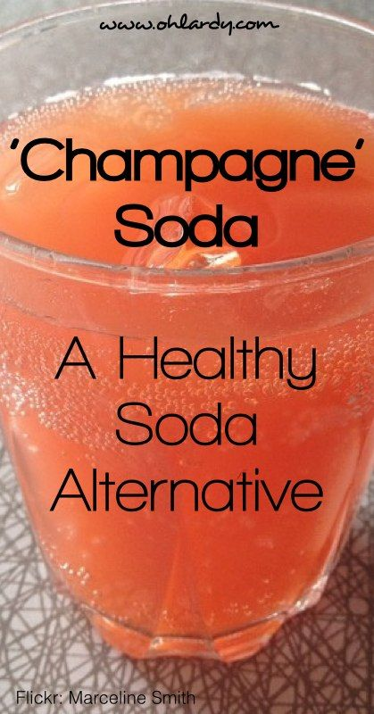 Champagne Soda - A Healthy Soda Alternative - www.ohlardy.com
