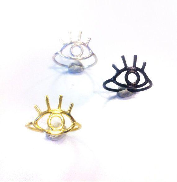 Eye Ring by Fishbone Design #madeinGreece #metalwork