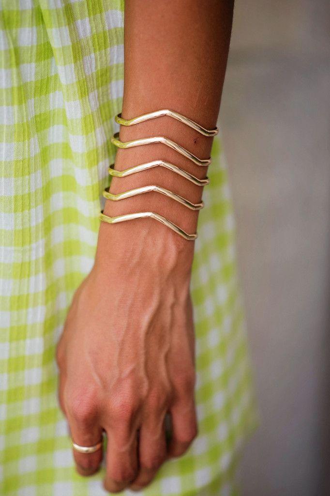 Cuff Me Crazy Gold Bracelet, $16.00 #bracelet #cuff #gold #chevron #metallic #singlethreadbtq #shopstb #boutique