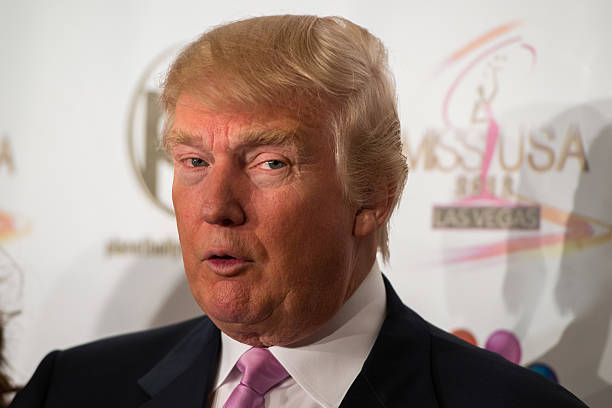 Donald Trump attends the 2012 Miss USA pageant red carpet at Planet Hollywood Casino Resort on June 3 2012 in Las Vegas Nevada