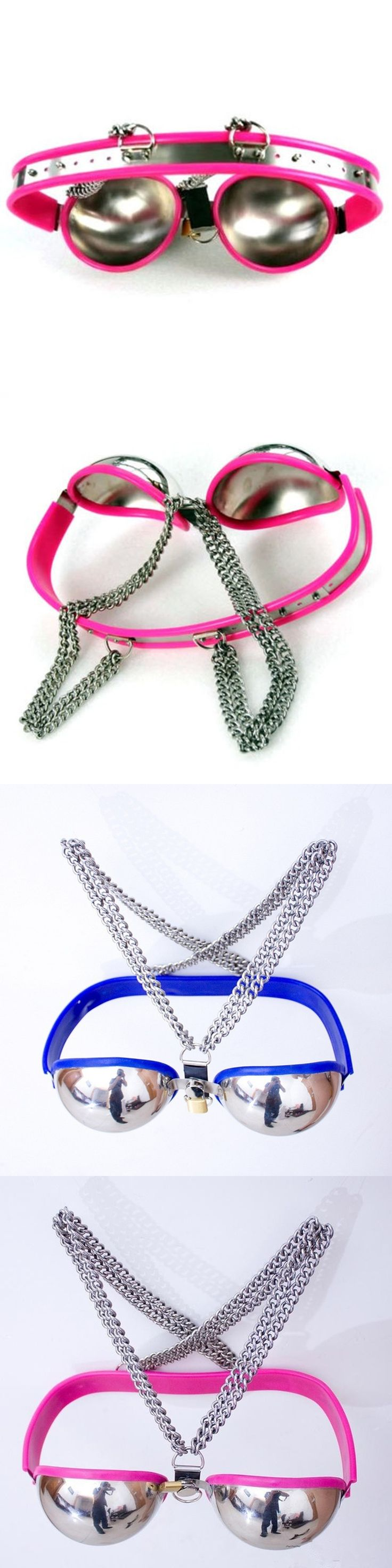 NEW adjustable stainless steel female chastity belt metal bra sex chain bondage restraints adult sex toys for woman sex products