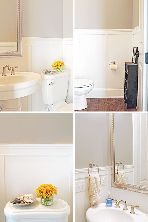 Bathroom Makeovers With Wainscoting 10 best powder room redo images on pinterest | powder room design