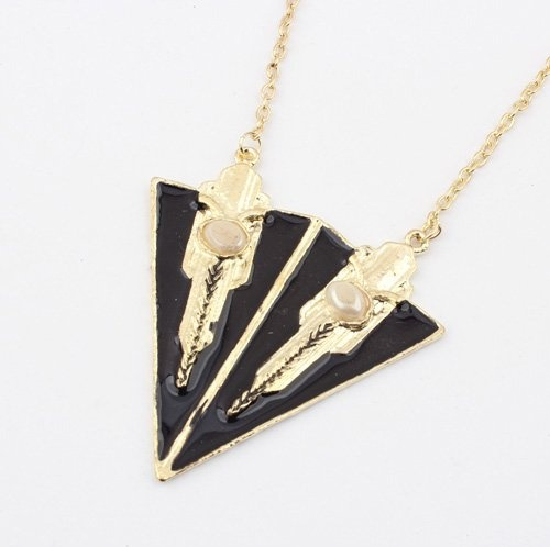 (Min order$10) Free Shipping!Europe and the United States exaggerated metal oil triangle abstract fashion sweater chain!#92714 on AliExpress.com. $2.35