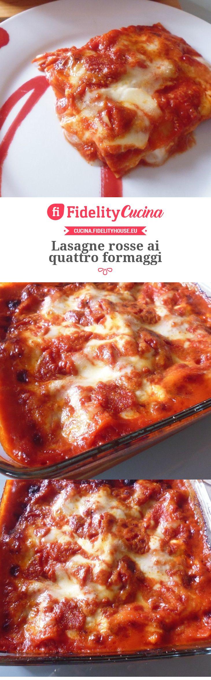 Lasagne rosse ai quattro formaggi