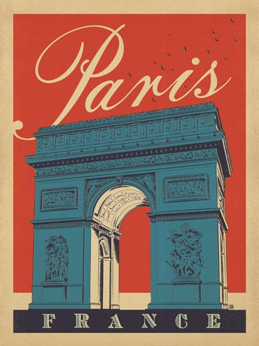 Vintage style posters from Anderson Design. Paris