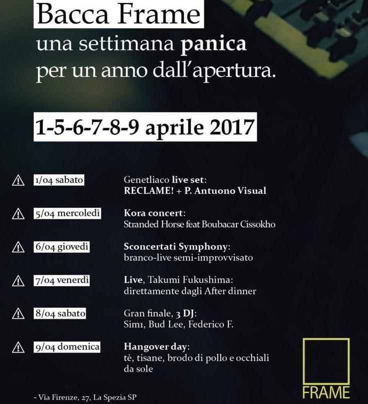 #LaSpezia. Un'intera #settimana di eventi e musica #live. Da domani a domenica, i festeggiamenti per il primo #compleanno del Frame Live Club