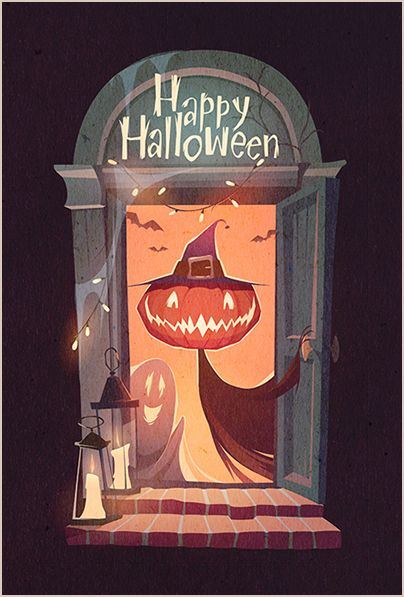 Halloween illustrations 2015 on Behance                                                                                                                                                                                 More