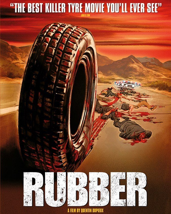 Lunch and a movie.  The best killer tyre movie we'll ever see? The expectations are sky-high now. ;) #rubber #movie #tyre #cars #rubberthemovie #rubbermovie #horror