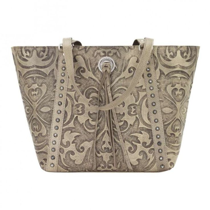 American West Baroque Tote Sand Make a statement with this unforgettable tote bag. $360