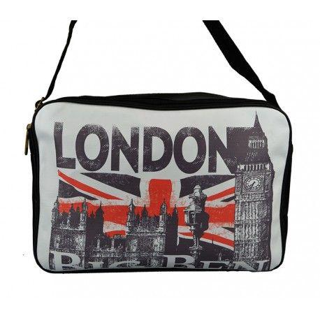 Flot og enkel taske med London og Big Ben - meget rummelig taske