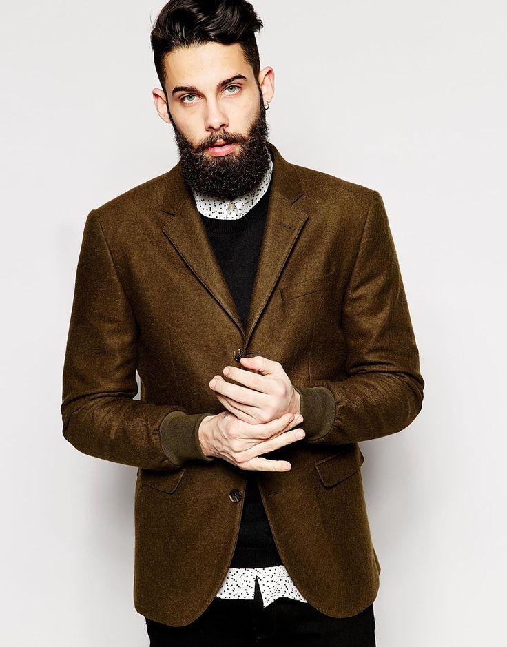 ASOS Slim Fit Blazer With Rib Cuffs