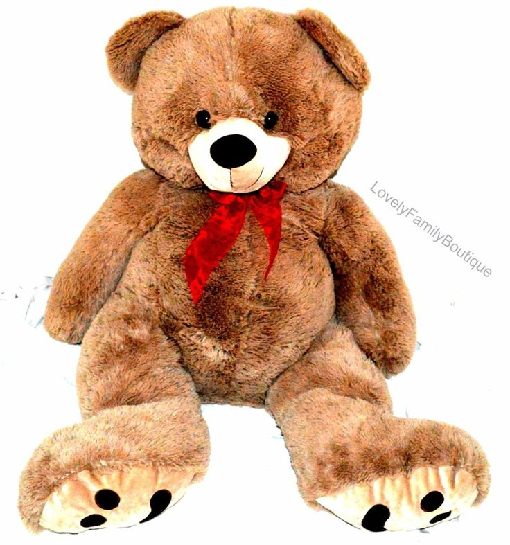 "Giant Jumbo Teddy Bear 40"" Stuffed Plush by Best Made Toys Super Soft BROWN #BestMadeToys #AllOccasion"