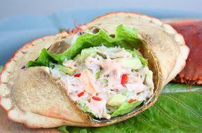 Krabsalade van verse Noordzeekrab met avocado // Francesca Kookt