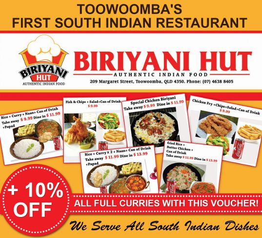 Deals From the Biriyani Hut on Margaret street!