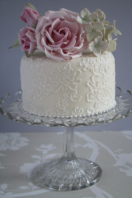 Amazing cake by Cotton and Crumbs. Could recreate topper with real flowers instead if you wanted them.