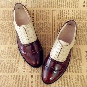 women <b>genuine leather</b> oxford shoes woman flats handmade ...