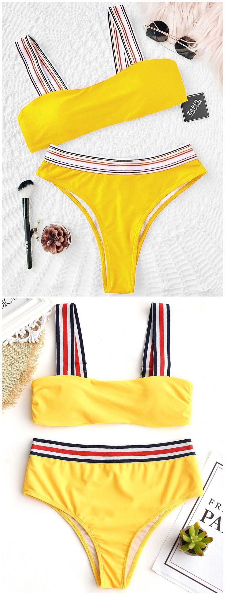 Up to 80% OFF! Striped Trim Padded Bikini Set. #Zaful #Swimwear #Bikinis zaful,zaful outfits,zaful dresses,spring outfits,summer dresses,Valentine's Day,valentines day ideas,cute,casual,fashion,style,bathing suit,swimsuits,one pieces,swimwear,bikini set,bikini,one piece swimwear,beach outfit,swimwear cover ups,high waisted swimsuit,tankini,high cut one piece swimsuit,high waisted swimsuit,swimwear modest,swimsuit modest,cover ups,swimsuit cover up @zaful Extra 10% OFF Code:ZF2017 #CoverUps