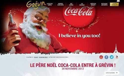 Le Père Noël Coca Cola débarque en statue de cire dès le 20 novembre 2013 au musée Grévin.