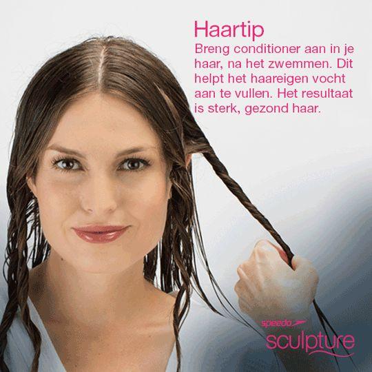Gebruik haarconditioner na het zwemmen voor sterk en gezond haar. #LoveYourSwim #zwemmen #haarverzorging #TipTuesday