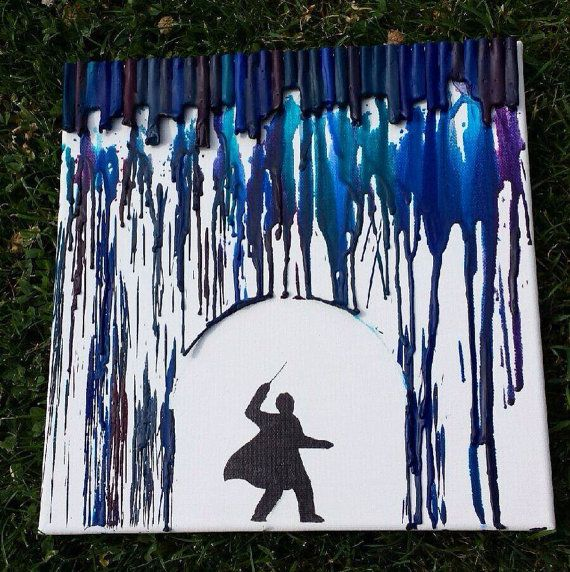 Harry Potter/Wizard Melted Crayon Art by ImperfectPerfection8, $30.00