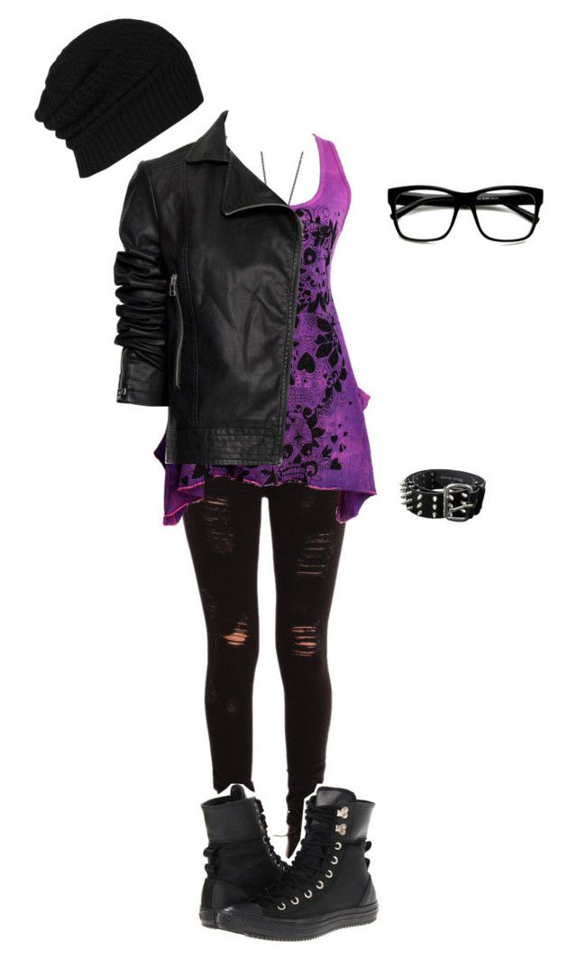 """Untitled #698"" by death-to-your-heart ❤ liked on Polyvore featuring Converse, Retrò, AllSaints, Daydream Nation and Bullet"