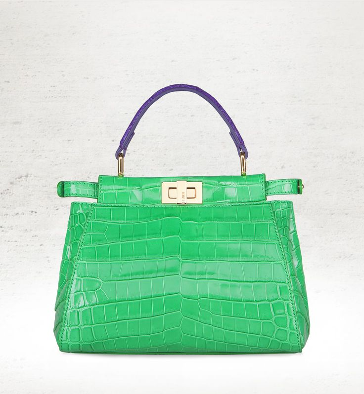A limited-edition croco Peekaboo that celebrates the reopening of Fendi's Leathergoods corner at Harrods