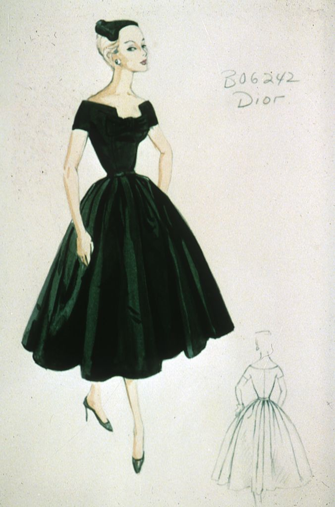 the gallery for gt dresses sketches dior