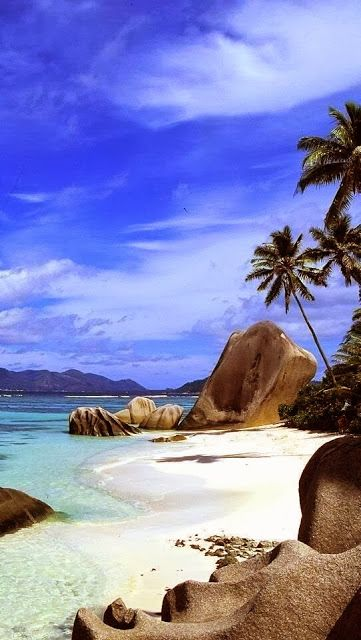 Beautiful beach on Bird Island, Seychelles. - #GuessQuest
