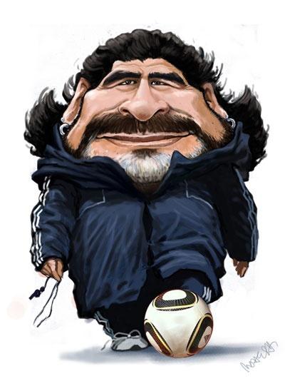 Maradona caricature
