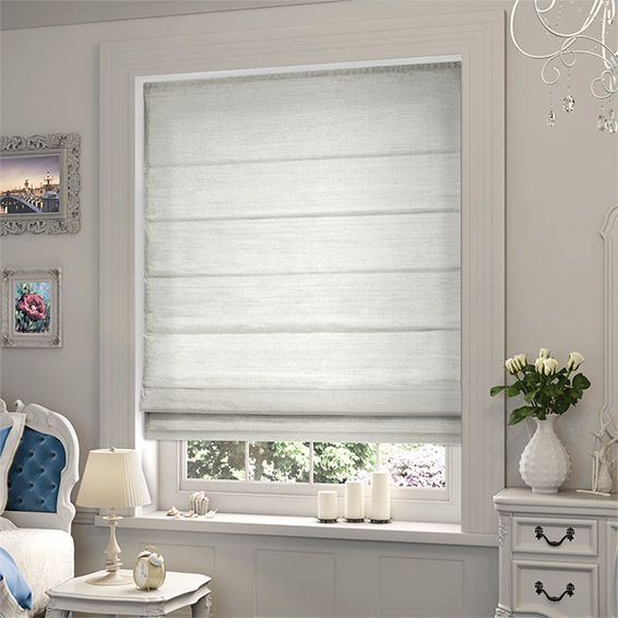 Dupioni Faux Silk Pearl Roman Blind from Blinds 2go