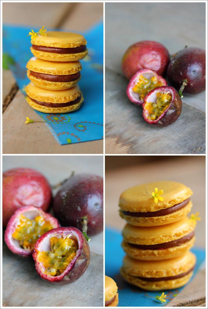 Macarons Mogador {chocolat au lait, fruit de la passion} de Pierre Hermé - Ready, steady... Cook !