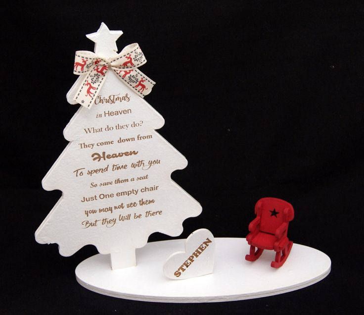 CHRISTMAS IN HEAVEN , tree and chair personalized by SGLaserShop on Etsy https://www.etsy.com/uk/listing/477863006/christmas-in-heaven-tree-and-chair