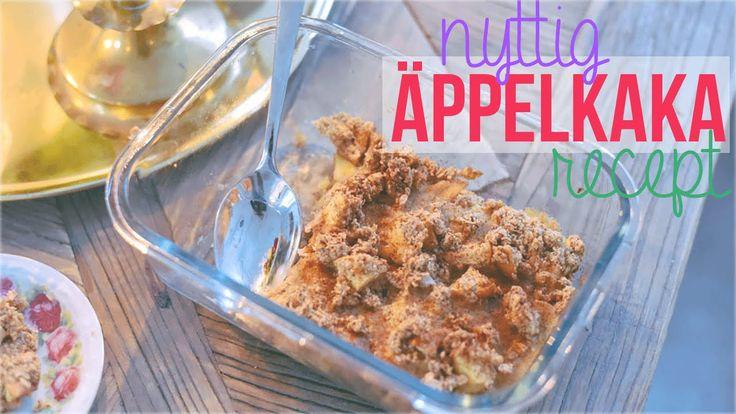 Recept på nyttig äppelkaka / äppelpaj ♥