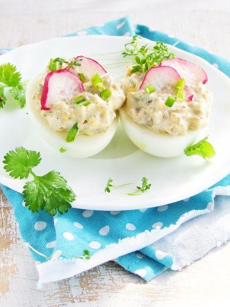 Jajka faszerowane pieczarkami...