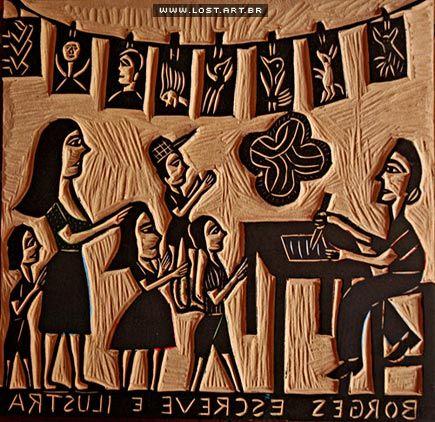 Matriz de xilogravura, J. Borges