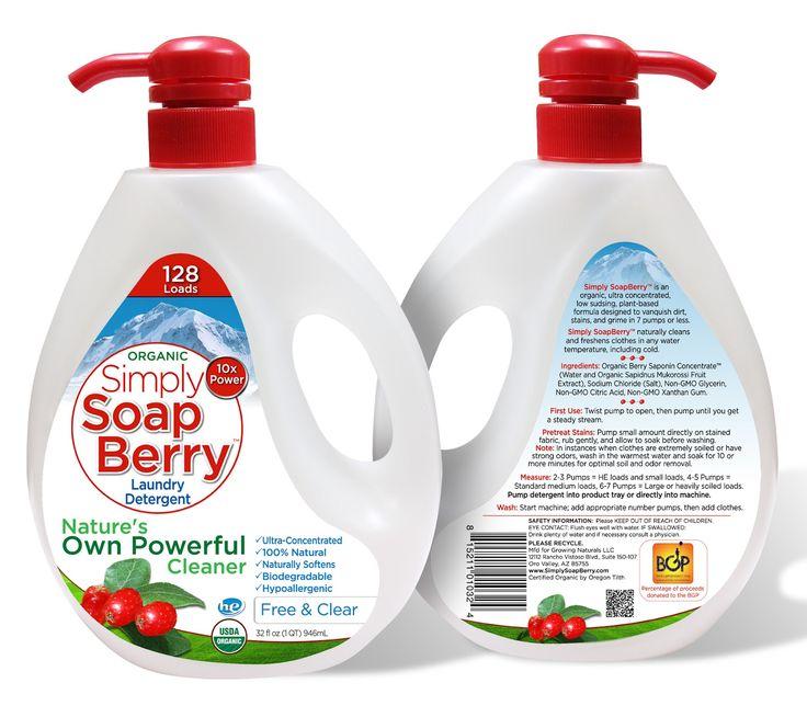 Simply Soap Berry Laundry Detergent Label Design Cas