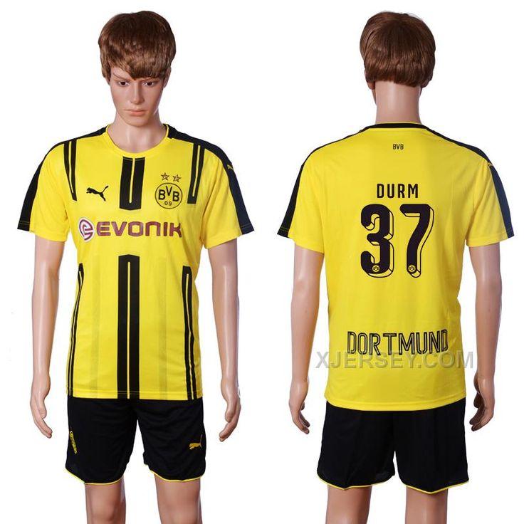 http://www.xjersey.com/201617-dortmund-37-durm-home-soccer-jersey.html 2016-17 DORTMUND 37 DURM HOME SOCCER JERSEY Only $35.00 , Free Shipping!